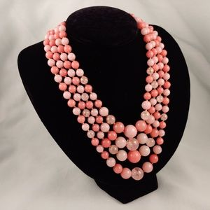 Jewelry - Multi-Strand Layered Waterfall Necklace Vintage